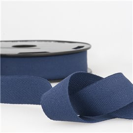Disquette 25m Serge coton Bleu marine