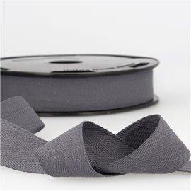 Disquette 25m Serge coton Gris noir