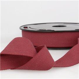 Disquette 25m Serge coton Rouge Bourgogne