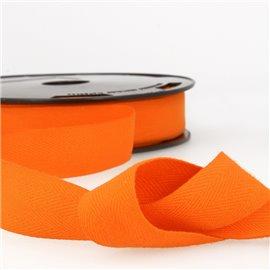 Disquette 25m Serge coton Orange