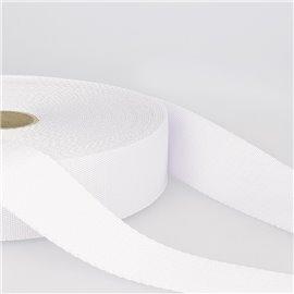 Bobine 25m sangle bandoulière polyester Blanc
