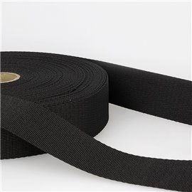 Bobine 25m sangle bandoulière polyester Noir