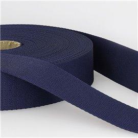 Bobine 25m sangle bandoulière polyester Bleu marine