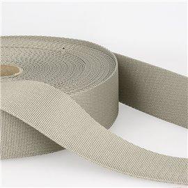 Bobine 25m sangle bandoulière polyester Gris Moyen
