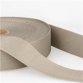 Bobine 25m sangle bandoulière polyester Taupe