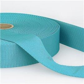 Bobine 25m sangle bandoulière polyester Turquoise