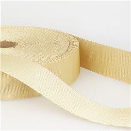 Bobine 25m sangle bandoulière polyester Ecru