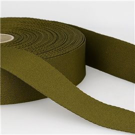 Bobine 25m sangle bandoulière polyester Kaki