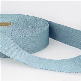 Bobine 25m sangle bandoulière polyester Bleu