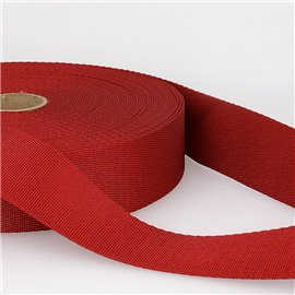 Bobine 25m sangle bandoulière polyester Rouge