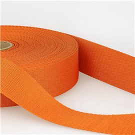 Bobine 25m sangle bandoulière polyester Orange