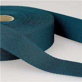 Bobine 25m sangle bandoulière polyester Bleu canard