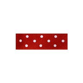 Disquette 25m ruban double face à pois rouge