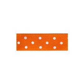 Disquette 25m ruban double face à pois orange