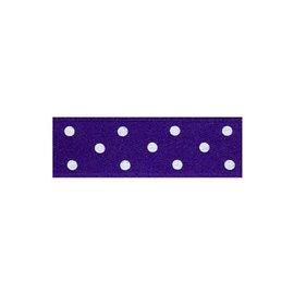 Disquette 25m ruban double face à pois violet