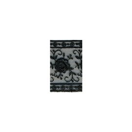 Bobine 14m entre-deux polyester 50mm Noir