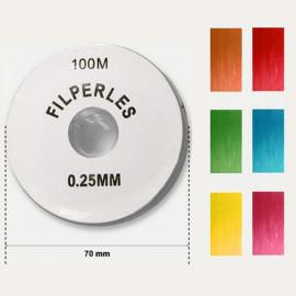 Fils perles colorés 100m