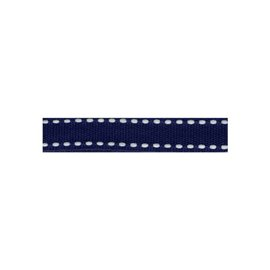 Bobine 25m galon polyester Tiret bleu marine