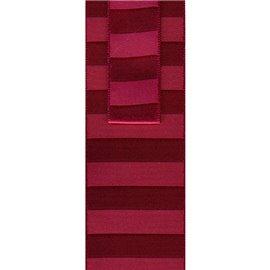 Disquette 25m ruban non laitonné à rayures Rouge