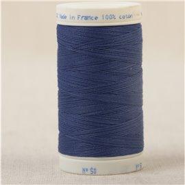 Bobine fil 100% coton made in France 445m - Bleu roy C441