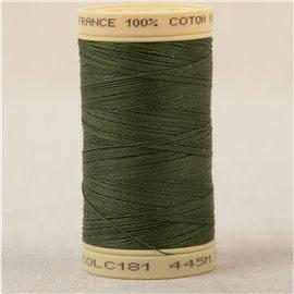 Bobine fil 100% coton made in France 445m - Kaki vert armée C181
