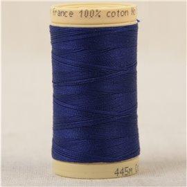 Bobine fil 100% coton made in France 445m - Bleu marine C167