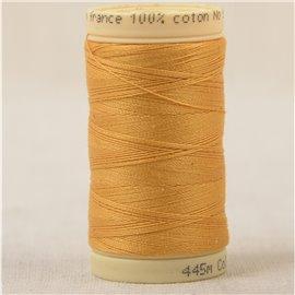 Bobine fil 100% coton made in France 445m - Jaune melon C130