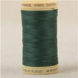 Bobine fil 100% coton made in France 445m - Vert fougere C122