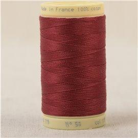 Bobine fil 100% coton made in France 445m - Marron chacha C119