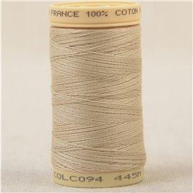 Bobine fil 100% coton made in France 445m - Beige C94