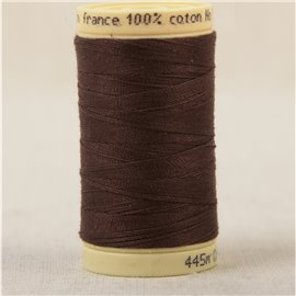 Bobine fil 100% coton made in France 445m - Havane C40