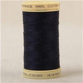 Bobine fil 100% coton made in France 445m - Bleu marine C30