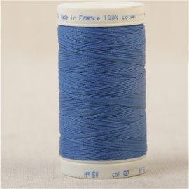 Bobine fil 100% coton made in France 445m - Bleu de france C27