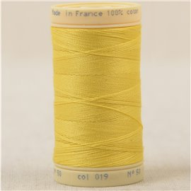 Bobine fil 100% coton made in France 445m - Jaune C19