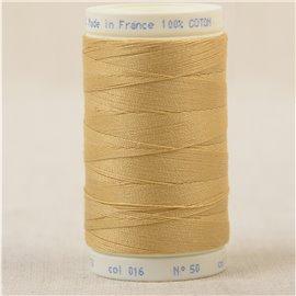 Bobine fil 100% coton made in France 445m - Jaune mais C16