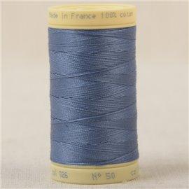 Bobine fil 100% coton made in France 445m - Bleu canard C26