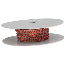 Planchette 10m galon strass thermocollant Rouge