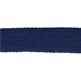 Bobine 20m Tresse tubulaire spéciale sportswear bleu marine