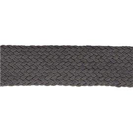 Bobine 20m Tresse tubulaire spéciale sportswear gris noir