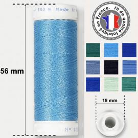 Les fils bleus super résistants en polyester - bobine 50m