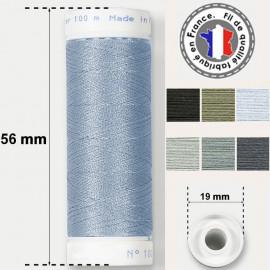 Les fils gris et acier super résistants en polyester - bobine 50m