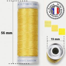 Les fils jaunes super résistants en polyester - bobine 50m
