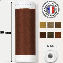 Les fils marrons super résistants en polyester - bobine 50m