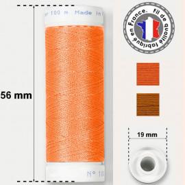 Les fils oranges super résistants en polyester - bobine 50m