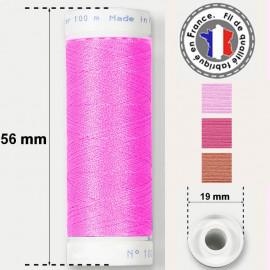Les fils roses super résistants en polyester - bobine 50m