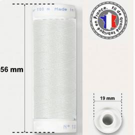 Fil blanc super résistant en polyester - bobine 50m