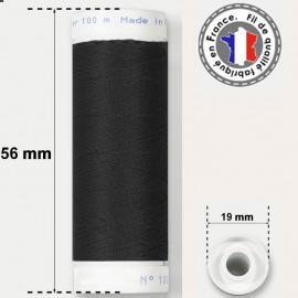 Fil noir super résistant en polyester - bobine 50m