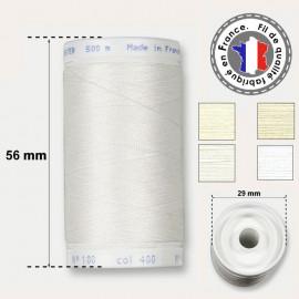 Les fils blancs en polyester - bobine 500m