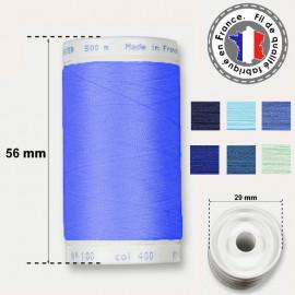 Les fils bleus en polyester - bobine 500m