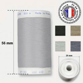Les fils gris et acier en polyester - bobine 500m